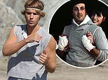Justin Bieber channels Rocky III vibes while practicing his boxing moves on the beach