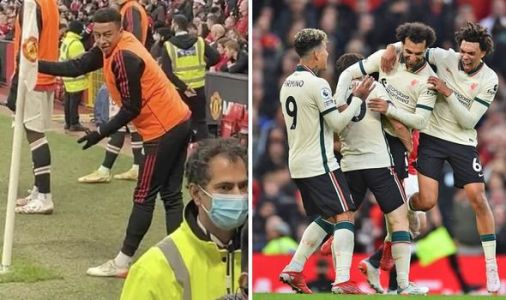 Man Utd star Jesse Lingard involved in ugly touchline argument as Liverpool run riot