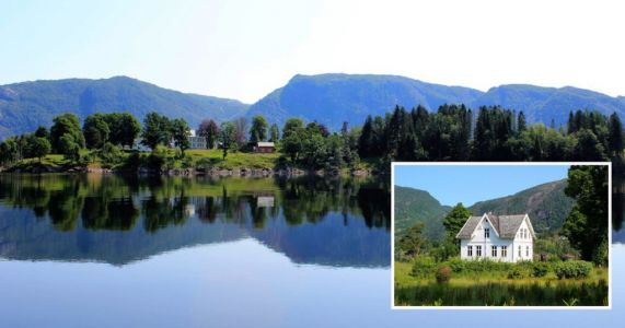 An entire island in the middle of a Norwegian fjord is for sale