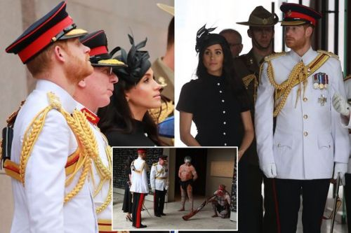Meghan Markle and Prince Harry mark 100th anniversary of end of WWI with opening of Anzac Memorial in Sydney