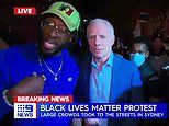 Incredible moment 9News reporter has live segment interrupted by Black Lives Matter protesters