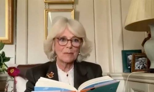 Watch the Duchess of Cornwall give dramatic James and the Giant Peach reading - with all the voices!