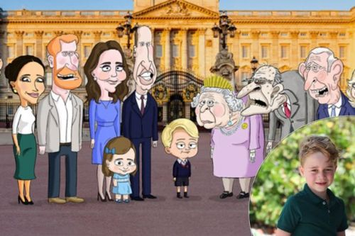Royal Family turned into satirical cartoon by comedian behind Prince George meme account