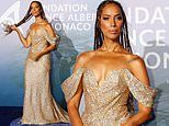 Leona Lewis wears gold dress at Planetary Health Gala in Monet Carlo