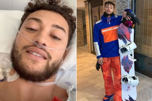 Myles Stephenson gets blood drained from lungs after snowboarding accident