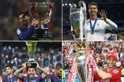 Cristiano Ronaldo, Lionel Messi and the 10 players with the most trophies in football