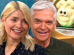 Holly Willoughby surprises Phillip Schofield with a caterpillar cake for his birthday