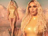 Kim Kardashian is a golden goddess in new images for her makeup line