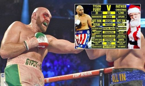 Tyson Fury claims Santa wants to fight him after 'big dosser' comment ahead of Christmas
