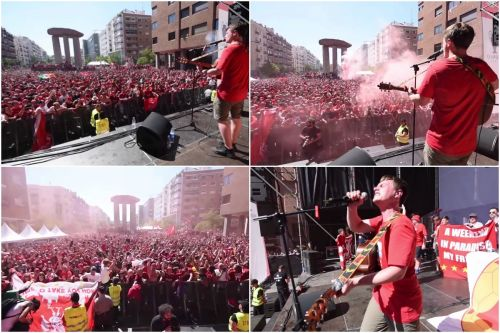 Relive the incredible scenes of Liverpool's Madrid fan park in full