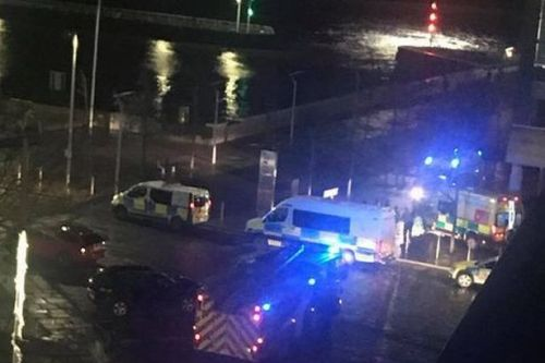 Horror as bystanders find woman 'clinging on for life in freezing marina water'
