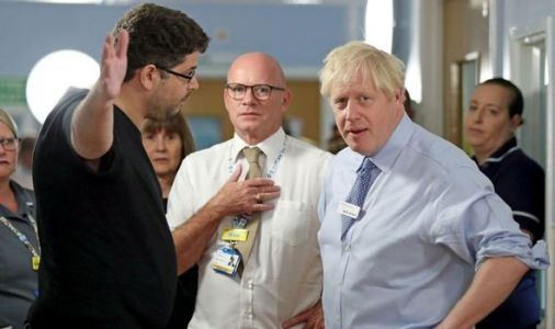 Boris Johnson confronted by furious Remain activist in hospital visit