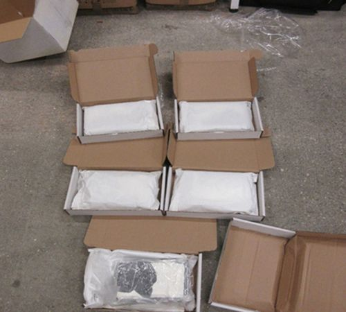 Two charged after £400,000 worth of cocaine found in protein powder boxes