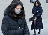 Selena Gomez mixes style with comfort as she continues to film Only Murders in the Building