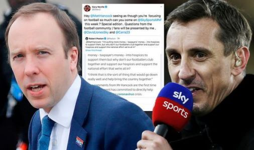 Gary Neville calls out Matt Hancock and sends Sky Sports invite over football wage cut row