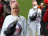 Anne-Marie joins protesters at Black Lives Matter demonstration in London's Hyde Park