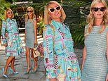 Paris Hilton and little sister Nicky are the perfect pastel pair atGitano restaurant