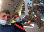 Teens Brad Duff and Reece Lornie ended up in Ibiza after having a few 'quiet Sunday beers'