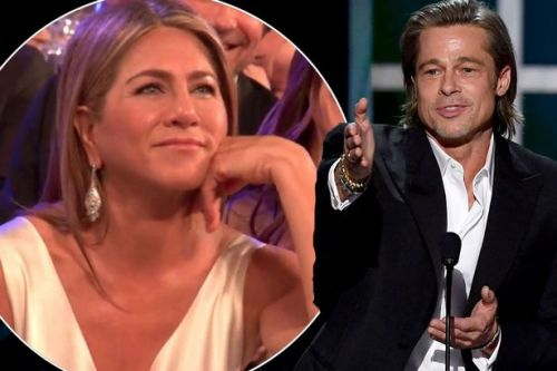Jennifer Aniston's priceless reaction to Brad Pitt's savage dig at Angelina Jolie