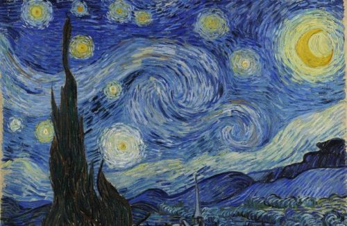 What Starry Night has in common with gassy clouds where stars are born