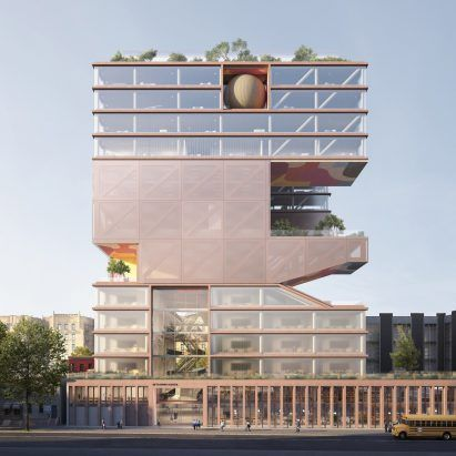 ODA unveils towering Jewish school and community centre in Brooklyn's Crown Heights