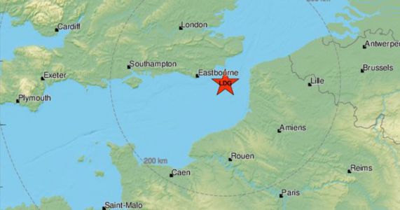 Earthquake rocks Sussex coast after hitting the English Channel