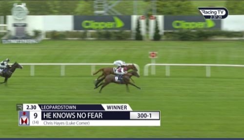 Huge shock 300-1 winner as He Knows No Fear lives up to name at Leopardstown to become longest-priced winner in history