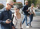 Selma Blair looks chic in a beige blazer for lunch with boyfriend Ron Carlson in West Hollywood