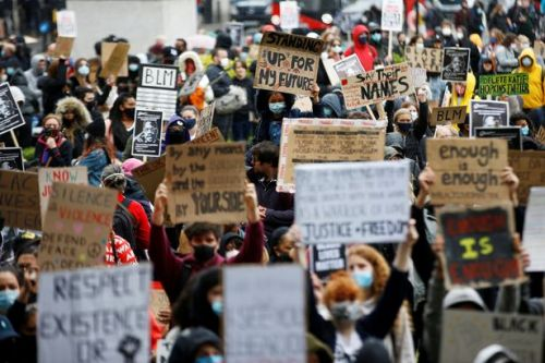 Thousands gather for Black Lives Matter rally in London as protests spread in UK