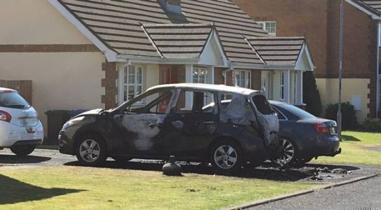 Gas cylinder planted in car set on fire and petrol bomb thrown at house sparking Derry alert