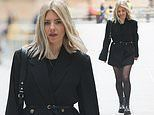 Mollie King puts her best fashion foot forward in an oversized blazer for work at Radio 1
