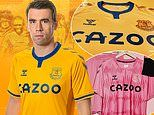 Everton unveil amber and blue away kit as club mark 50th anniversary of their 1969-1970 league title