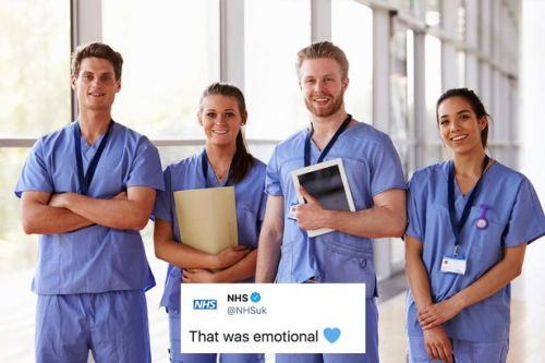 NHS say 'emotional' thank you to UK after nation claps their efforts