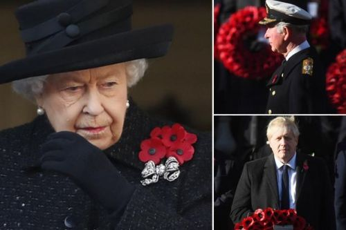 Remembrance Sunday: The Queen leads royal family and politicians to honour war dead
