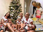 Tammy Hembrow and her sisters Emilee and Amy make Christmas cookies with their children