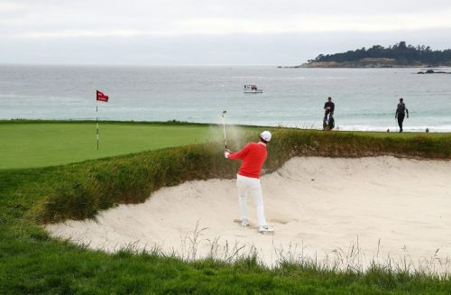 """Justin Rose savours """"cool moment"""" after soaring into Pebble Beach lead"""