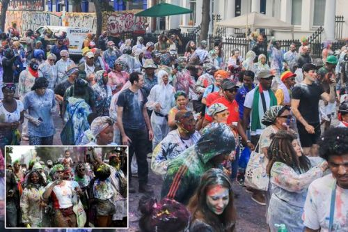 Notting Hill Carnival revellers dance in streets as huge two-day party starts