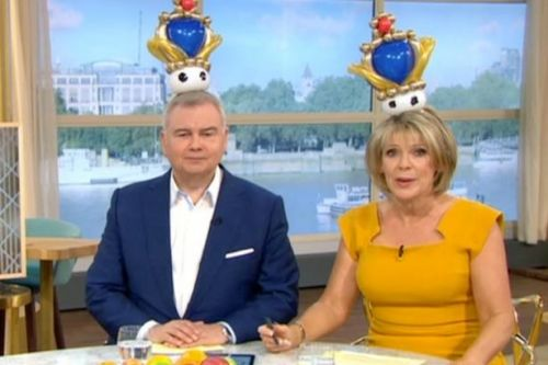 Eamonn Holmes and Ruth Langsford don balloon crowns as give opinion on Prince Charles walking Meghan Markle down the aisle