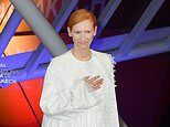 Tilda Swinton dazzles in an ethereal cream gown at Marrakech International Film Festival