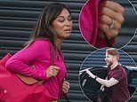 Strictly's Katya Jones continues to sport her wedding ring as she arrives at rehearsals with ex Neil