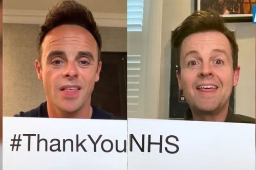 Ant and Dec thanks the NHS as they lead stars in moving tribute video