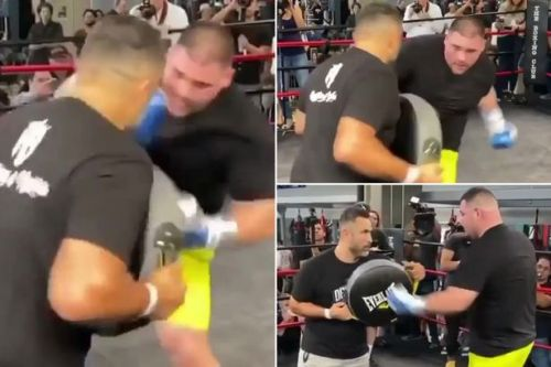 Andy Ruiz Jr holds open training session after 'turning down offer from WWE'