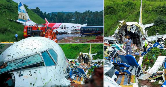 Plane wreckage investigated as 18 confirmed dead after runway crash