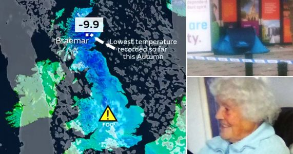 Five dead as temperatures across Britain plunge to -10°C