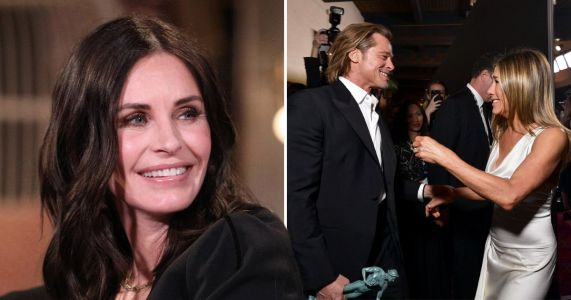 Even Friends' Courteney Cox is loving the Brad Pitt and Jennifer Aniston reunion at the SAG Awards