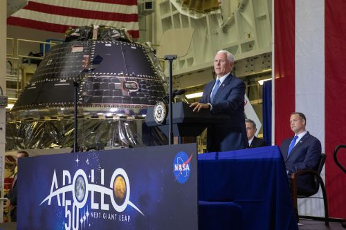 First moon-bound Orion crew capsule declared complete, major tests remain