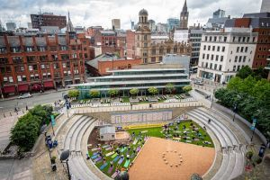 There's A Beach With A Giant Deckchair In The Heart Of Manchester City Centre