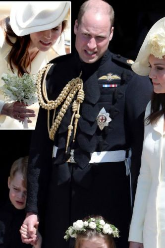 Kate Middleton royal wedding: Prince William's wife wears new citrine ring - is the accessory a push present from husband after giving birth to baby Prince Louis?