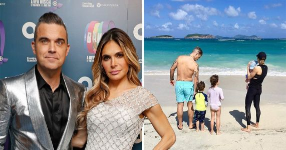 Ayda Field shares idyllic family snap as she and Robbie Williams kick back after X Factor