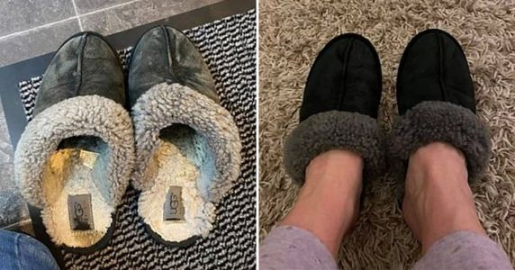 Woman fixes 'ruined' Ugg slippers by putting them in the washing machine